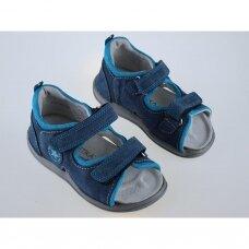 Vaikiškos ortopedinės basutės mėlynos/turkio T115A (22-27 dydžiai)