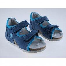 Vaikiškos ortopedinės basutės mėlynos/turkio T115B (28-38 dydžiai)